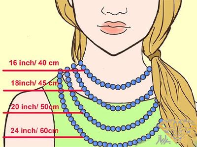 انواع-سایز-گردنبند-برای-خانم-ها